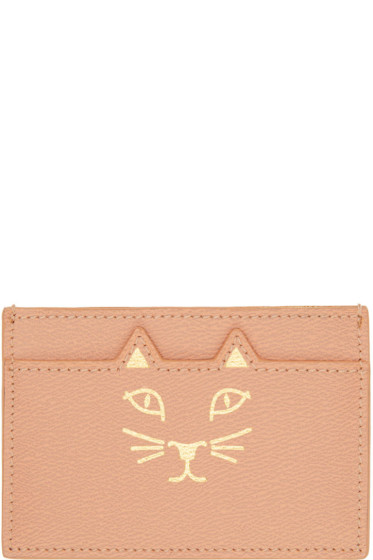 Charlotte Olympia - Pink Feline Card Holder