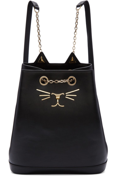 Charlotte Olympia - Black Feline Backpack