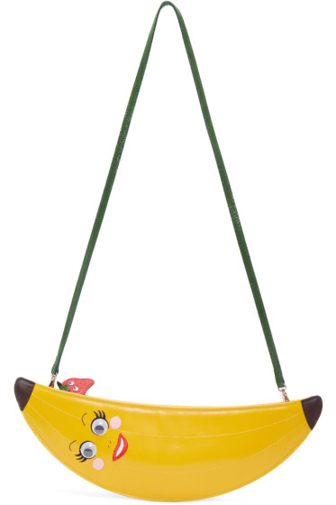 Charlotte Olympia - Yellow Banana Pouch