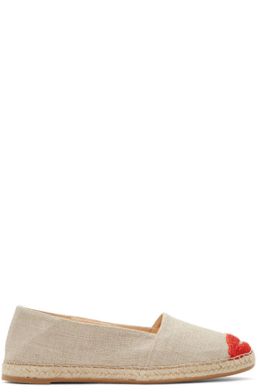 Charlotte Olympia - Grey Kiss Me Espadrilles