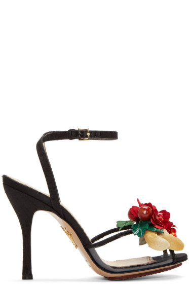 Charlotte Olympia - Black Tropical Heeled Sandals