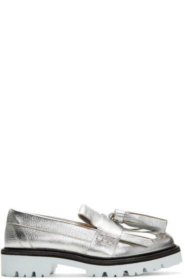 MSGM - Silver Fringe Tassel Loafers