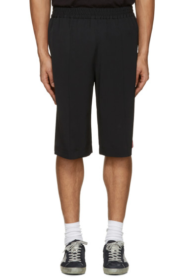 MSGM - Black Striped Track Shorts