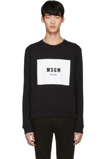 MSGM - Black Logo Pullover