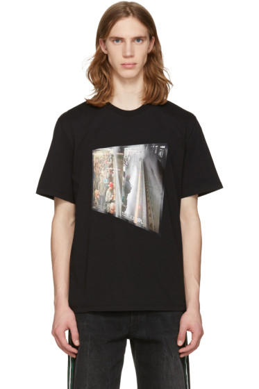 MSGM - Black Surveillance Camera T-Shirt