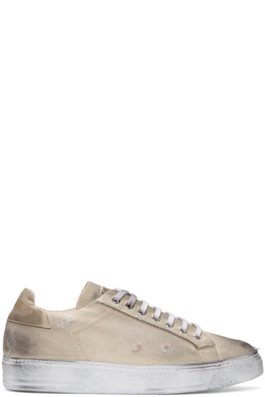 MSGM - Beige Worn Out Retro Sneakers