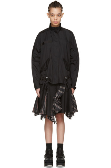 Sacai - Black Bomber Top Dress
