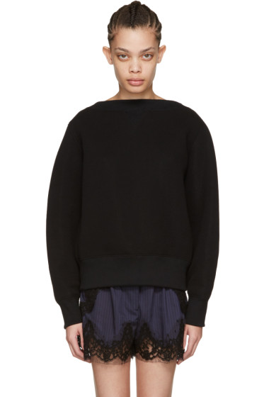Sacai - Black Tie Back Pullover