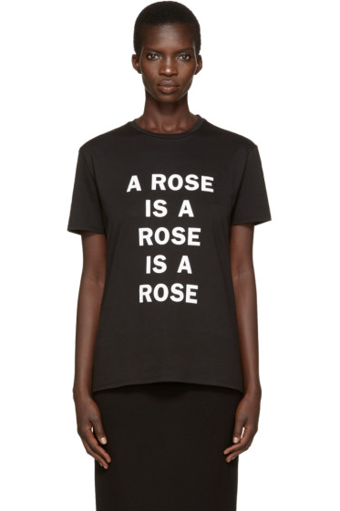 6397 - Black 'A Rose Is' T-Shirt