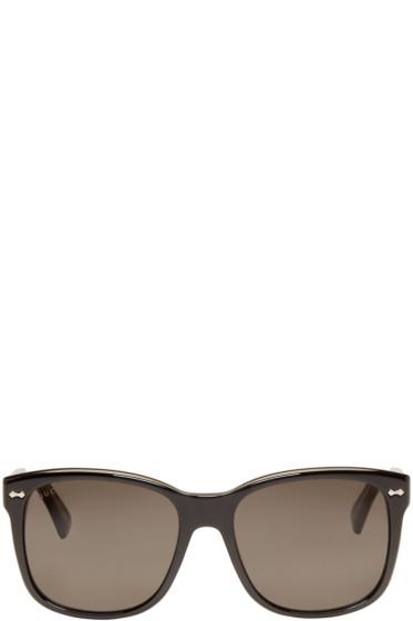 Gucci - Black Square Sunglasses