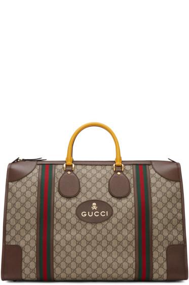 Gucci - Beige Neo Vintage Duffle Bag
