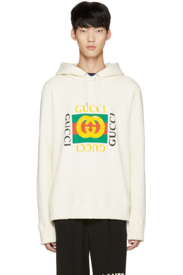 Gucci - Off-White Felted Hoodie