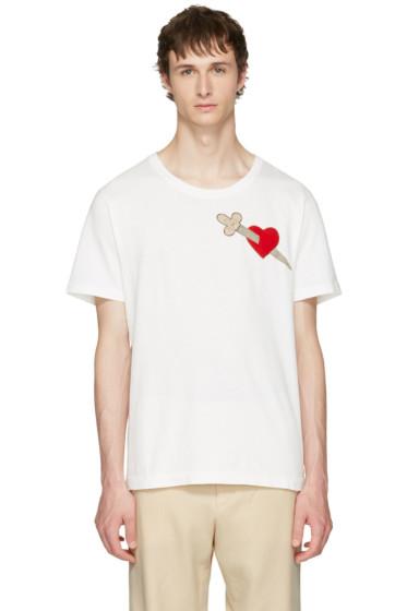 Gucci - White Pierced Heart T-Shirt