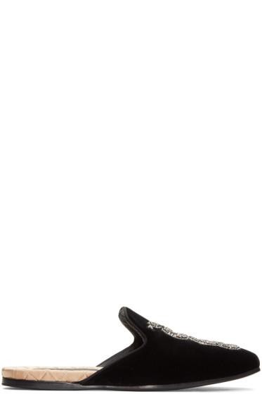 Gucci - Black Snake Slip-On Loafers