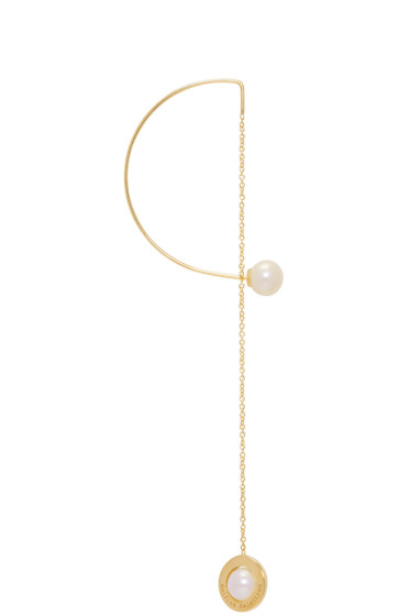 Delfina Delettrez - Gold ABC Fishing for Compliments Earring
