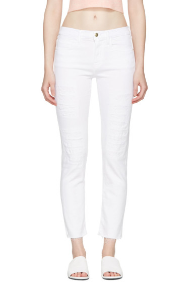 Frame Denim - White 'Le Boy' Jeans