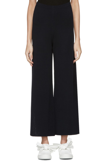 Cédric Charlier - Navy Flared Lounge Pants