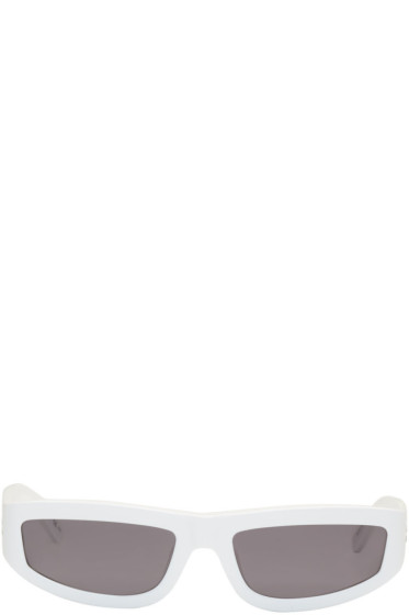 Stella McCartney - White Rectangular Slim Sunglasses