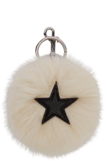 Stella McCartney - Ivory Faux-Fur Star Keychain