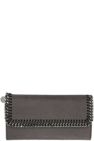 Stella McCartney - Grey Falabella Continental Flap Wallet