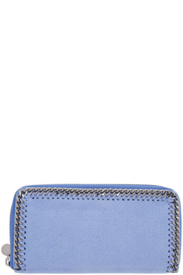 Stella McCartney - Blue Falabella Box Continental Wallet