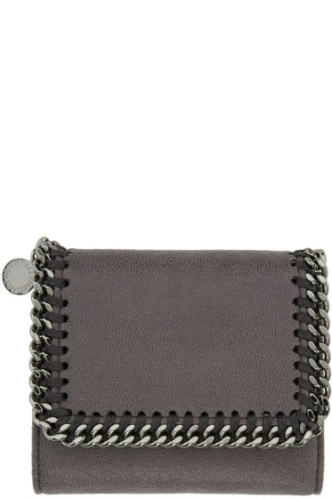 Stella McCartney - Grey Falabella Small Flap Wallet