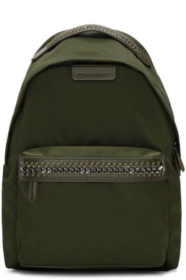 Stella McCartney - Green Nylon Chain Backpack