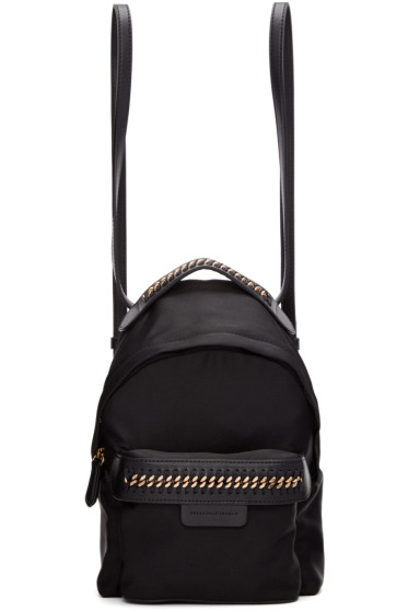 Stella McCartney - Black Mini Falabella GO Backpack
