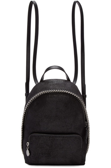 Stella McCartney - Black Mini Falabella Backpack