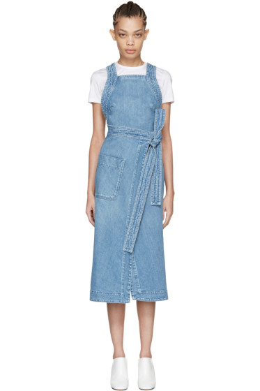 Stella McCartney - Blue Denim Apron Dress