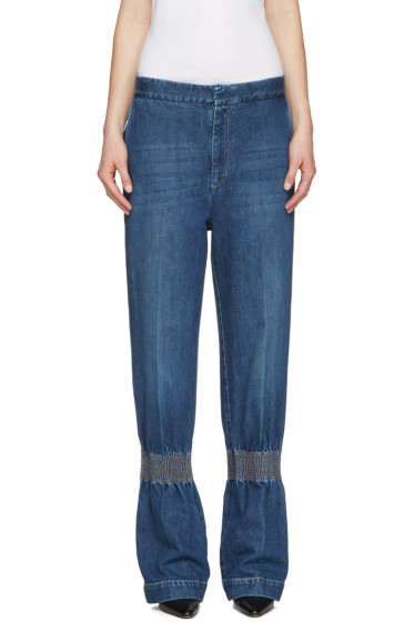 Stella McCartney - Blue Ruched Jeans
