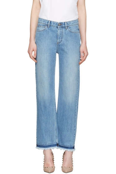 Valentino - Blue Fringe Jeans