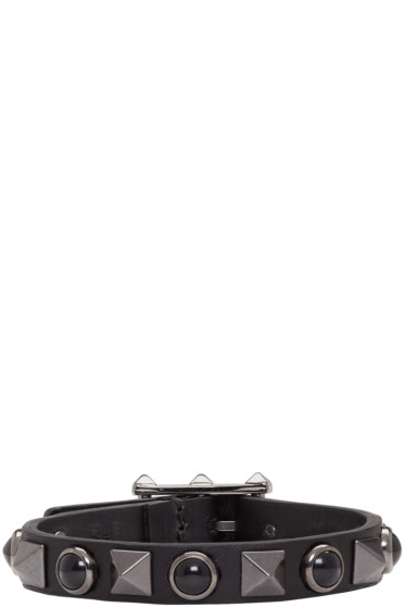 Valentino - Black Stone & Rockstud Bracelet