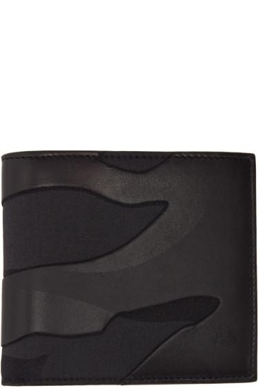 Valentino - Black Camouflage Bifold Wallet