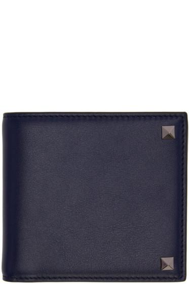 Valentino - Navy Big Rockstud Wallet