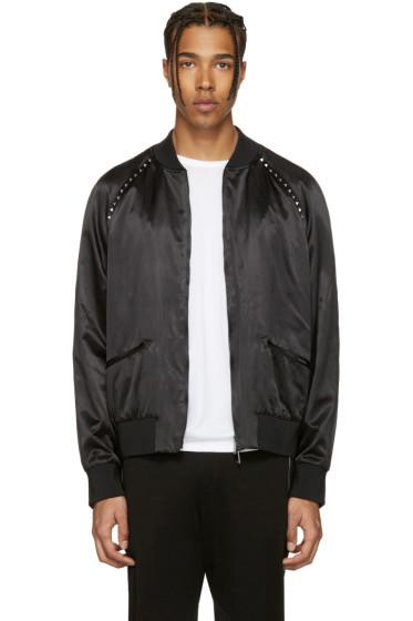Valentino - Black 'Rockstud Untitled' 14 Bomber Jacket