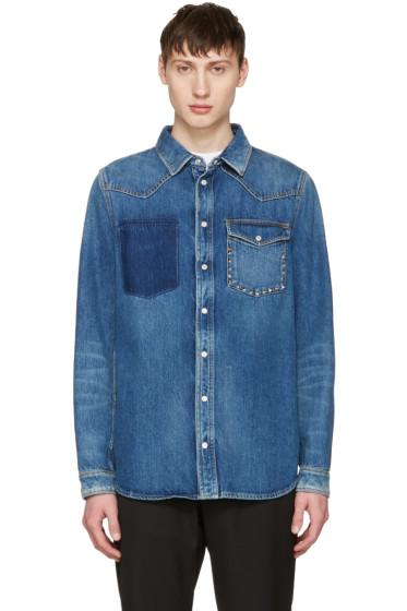 Valentino - Blue Denim Rockstud Jacket