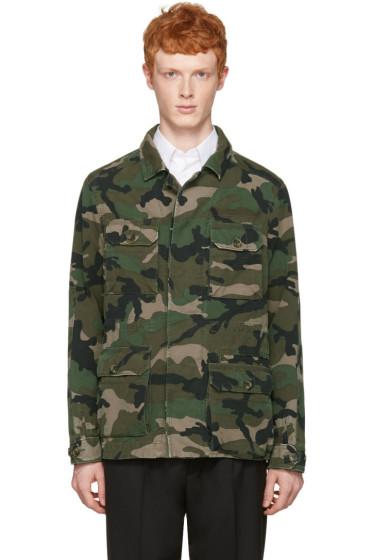 Valentino - Green Camo Cargo Jacket