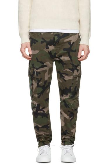 Valentino - Green Camo Cargo Trousers