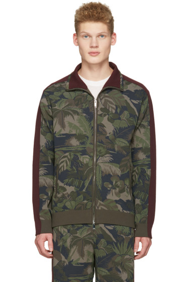 Valentino - Green Tropical Camo Zip Jacket