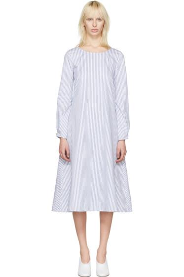 J.W. Anderson - White Striped Front Detail Dress