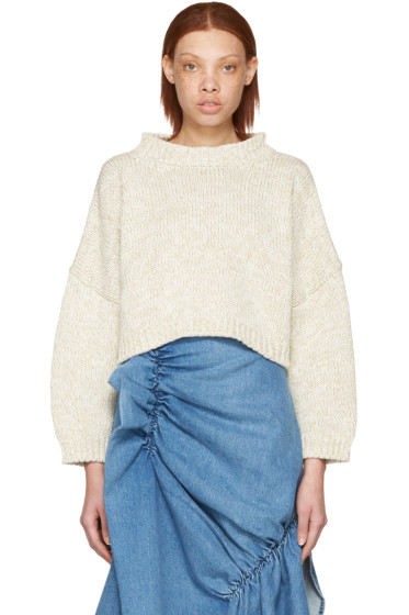 J.W. Anderson - Beige Tie Back Sweater