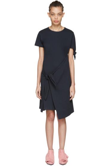 J.W. Anderson - Navy Single Knot T-Shirt Dress