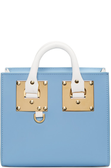 Sophie Hulme - SSENSE Exclusive Blue & White Albion Box Tote