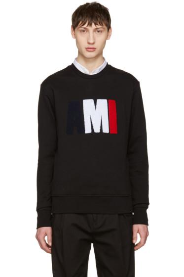 AMI Alexandre Mattiussi - Black Logo Pullover