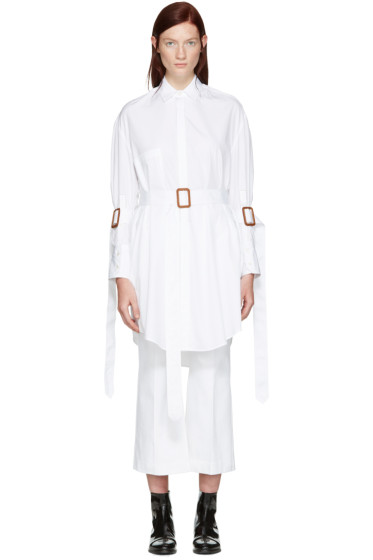 Calvin Klein Collection - White Belted Katia Tunic