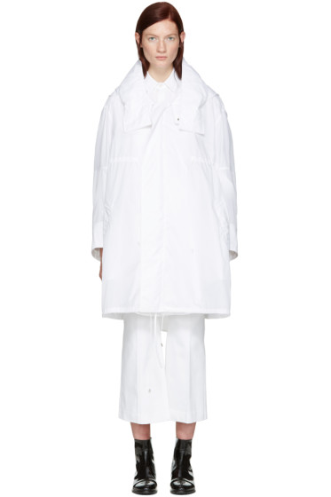 Calvin Klein Collection - White Oversized Kempton Parka
