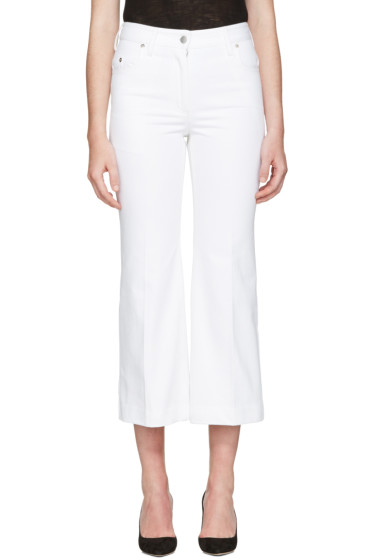 Calvin Klein Collection - White Fray Bis Jeans