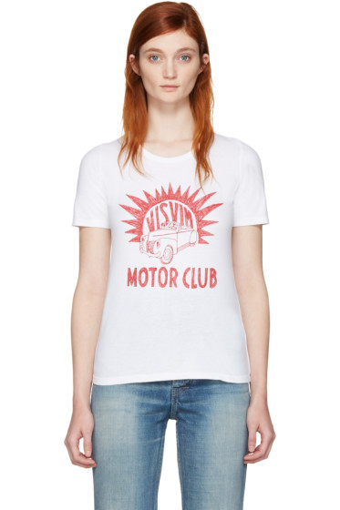 Visvim - White 'Motor Club' Basic Dry T-Shirt