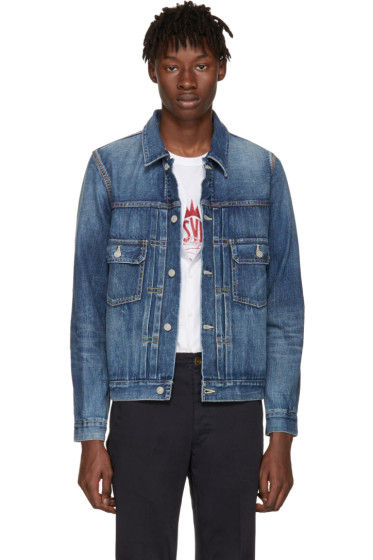 Visvim - Blue Damaged Denim 101 Jacket